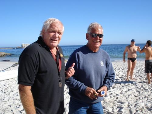 Godfrey Mocke and Pete Bales on Clifton Beach.